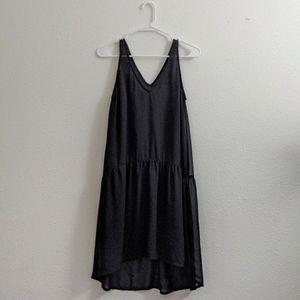 Double Layered Black Tildon Dress